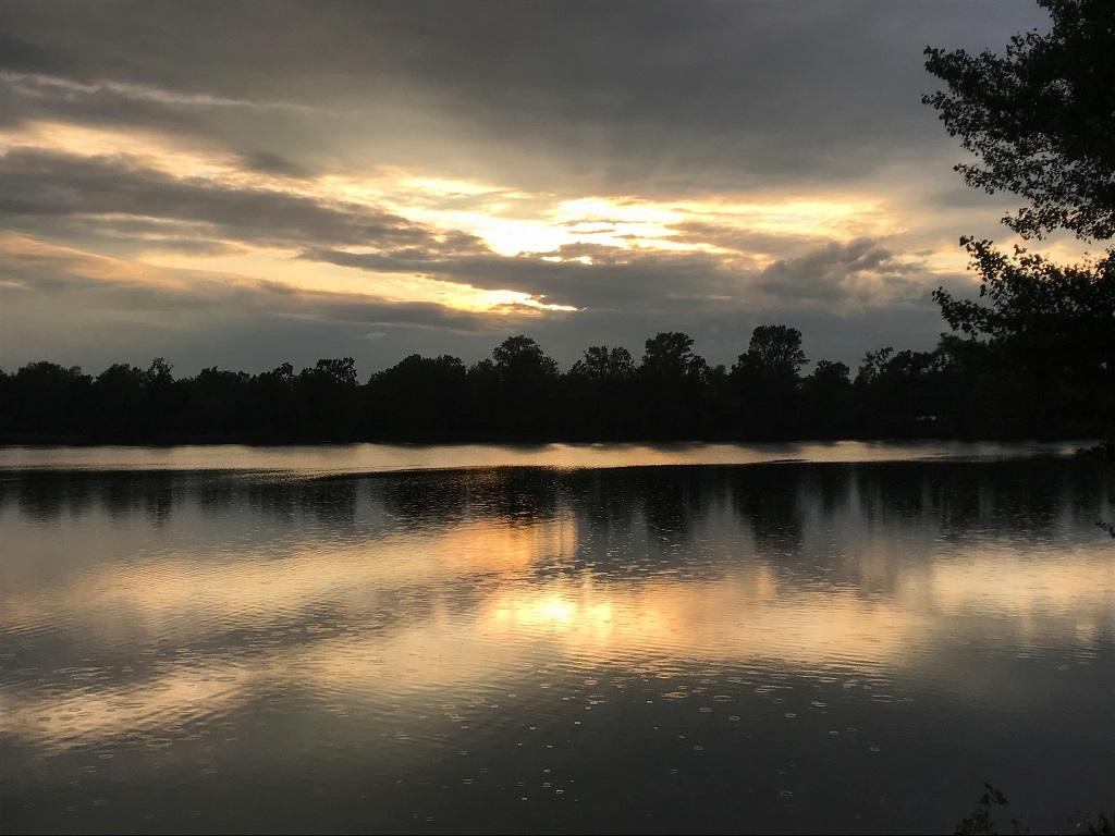 Marxweiher bei Sonnenuntergang