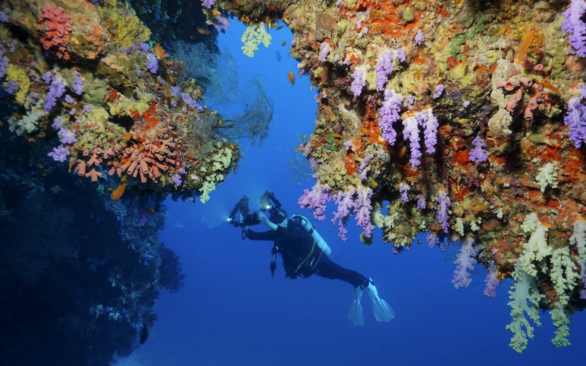 Uwe mit Unterwasser-Kamera